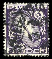 Lot 24509:1922-34 Wmk S in E SG #78 5d deep violet.