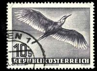Lot 3314:1950-53 Birds SG #1220 10s Grey Heron, Cat £75, slight creasing to TLC.