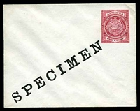 Lot 3095:1903 HG #B1 1d red on white, with 'SPECIMEN' opt.
