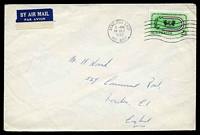 Lot 635:1962 use of 2/3d Empire Games, cancelled with Bentleigh East machine of 18DEC1962, on large plain cover to England.
