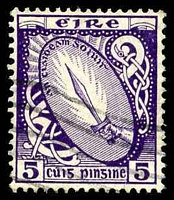 Lot 3700:1922-34 Wmk S in E SG #78 5d deep violet.