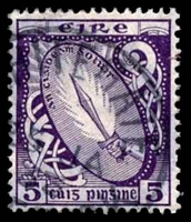 Lot 21409:1922-34 Wmk S in E SG #78 5d deep violet.