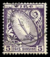 Lot 3830:1922-34 Wmk S in E SG #78 5d deep violet.