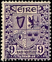 Lot 4287:1922-34 Wmk S in E SG #80 9d deep violet.