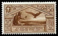 Lot 3843:1930 Virgil - Air SG #299 50c reddish brown.