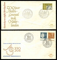 Lot 4024 [2 of 4]:1962-64 8 NVPH FDCs - 1962 Silver Jubilee, Telephones, 1964 Parliament, Groningen University, Rail, Bible Society, Benelux & Charter of the Kingdom, condition variable, most have mild faults