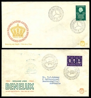 Lot 4024 [4 of 4]:1962-64 8 NVPH FDCs - 1962 Silver Jubilee, Telephones, 1964 Parliament, Groningen University, Rail, Bible Society, Benelux & Charter of the Kingdom, condition variable, most have mild faults