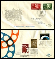 Lot 4024 [1 of 4]:1962-64 8 NVPH FDCs - 1962 Silver Jubilee, Telephones, 1964 Parliament, Groningen University, Rail, Bible Society, Benelux & Charter of the Kingdom, condition variable, most have mild faults