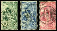Lot 4414:1900 UPU SG #189-91 set of 3, P11¾x11½, 5c is re-engraved issue, Cat £45, some slight toning