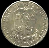 Lot 212 [2 of 2]:Phillipines: 1967 Peso, partially toned.