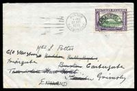 Lot 28415:1940 use of 2d green & bright violet, cancelled with poor Marandellas of 30JUL1940, on plain readdressed cover to England, some light toning.