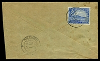 Lot 3635:1941 use of 1a pale blue, cancelled with double-circle 'ADEN