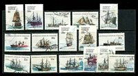 Lot 3490:1979-81 Ships SG #37-52 complete set of 16, Cat £16.