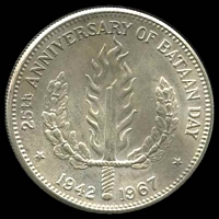 Lot 201 [1 of 2]:Phillipines: 1967 Peso, partially toned.