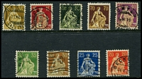 Lot 4699:1908 Seated Helvetia SG #232-46 range, initial set of 9.