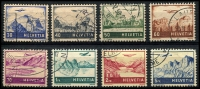 Lot 4706:1941 Landmarks (Air) SG #415,416,417-22 original set of 8, Cat £26, 5f has rounded TRC.