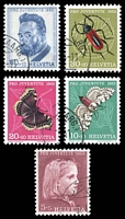 Lot 4616:1953 Pro Juventute SG #J147-51 set of 5, Cat £22.