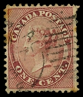 Lot 3757:1859 Decimal Currency SG #30 1c deep rose, Cat £50, couple of strong tone spots