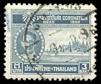 Lot 4208:1950 Coronation SG #335 3b grey.