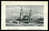 Lot 107:Great Britain - 1908 Franco-British Exhibition: Valentine black & white official PPC of 'Palace of Women's Work, Franco-British Exhibition, London, 1908'
