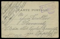 Lot 3574:1917 use of 'CARTE POSTALE', cancelled with boxed 'P. G. VISE/13·REGION
