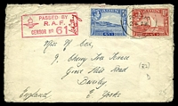 Lot 16486:1940 use of 1a blue & 1½a red KGVI Pictorials, cancelled with double-circle 'ADEN