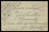 Lot 18865:1917 use of 'CARTE POSTALE', cancelled with boxed 'P. G. VISE/13·REGION