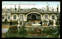 Lot 507:Great Britain - 1908 The Great White City: Valentine coloured PPC of 'Pavilion Delieux, The Great White City, London', franked with ½d green cancelled with 'GILLINGHAM - S.O/530PM/OC27/08/KENT' (B1)