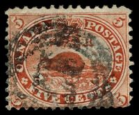 Lot 3588:1859 Decimal Currency SG #32 5c deep red, Cat £13.