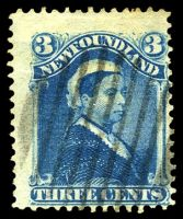 Lot 26675:1868-73 Perf 12 SG #37 3c blue, Cat £22.
