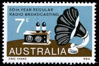 Lot 3516:1973 Radio Broadcasting BW #658d 7c with Retouch on lower left segment of speaker [LP 8/1].