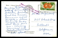 Lot 3880:1956 use of 15p oranges, cancelled with 'WASHINGTON, 3/NOV20