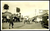 Lot 212:Netherlands Indies: Kodak Print 1931 black & white photo of a street in Batavia.