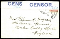 Lot 4776:1917 2c red, cancelled with '[SAN FRANCISCO]/FEB13/1PM