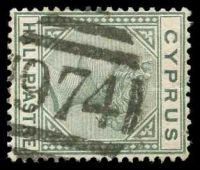 Lot 21437:974: of Kyrenia on ½pi dull green.  PO 30/9/1878.