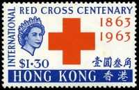 Lot 4204:1963 Red Cross SG #213 $1.30 red & blue, Cat £35, 1 tiny tone spot.