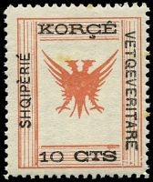Lot 3215:1917 Shqipèrié Vetqeveritare SG #71 10c red-brown & black, couple of small tone spots.
