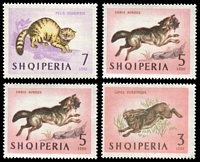 Lot 3214 [1 of 2]:1964 Animals SG #810-16 set to 7L with extra 5L, Cat £14, 2l has a couple of tone spots.