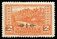 Lot 18795:1924 Surcharge SG #156 1q on 2q orange.