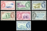 Lot 3830:1953-62 QEII Pictorials SG #148-54 short set to 3d, Cat £13. (7)