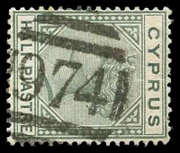 Lot 20414:974: of Kyrenia on ½pi dull green.  PO 30/9/1878.