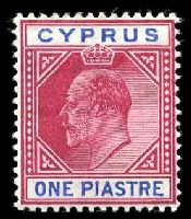Lot 3362:1904-10 KEVII Wmk Multi Crown/CA SG #64 1pi carmine & blue.