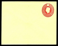 Lot 4145:1951 Oval KGVI No Ornaments HG #B30 2½d red on cream laid paper, 120mm x 95mm.