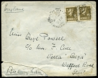 Lot 4471:1932 use of 15ø brown, cancelled with 'BUREAU DE MER/DE NORVEGE/21.1.32/BERGEN-NEWCA