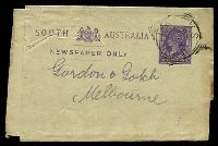 Lot 9080:1884 Arms 14x9mm New Stock HG #E3 ½d violet, cancelled with 26mm squared-circle 'KADINA/AU14/95/S.A' (A2), touch of toning at right edge.
