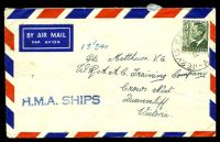 Lot 856:1953 use of 3d green KGVI, cancelled with 'JERVIS BAY/29JY53/A.C.T-AUST