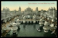 Lot 76:Great Britain - 1908 Franco-British Exhibition: Valentine's coloured PPC of 'Court of Honour, The Great White City, London', slight corner wear.