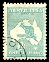 Lot 216:1/- Emerald - BW #34w CTO, Cat $40.