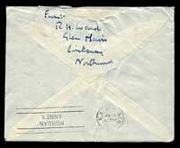 Lot 4084 [2 of 2]:1943 use of 5d brown KGVI x3, cancelled with double-circle 'NORTHWOOD/115PM/16AU/43/MIDDLESEX