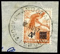 Lot 4167:Angoram: 'ANGORAM/?5AU57/PAPUA & NEW GUINEA' on 4d opt. [In use from 12/1/57 - 5/12/60]  PO 10/10/1946.